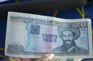 Real Cuban Pesos Front