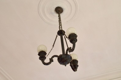 Light fixture at Rox Jewelry