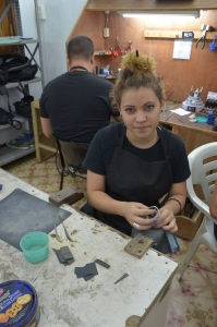 Student at Rox Jewelry - Girl