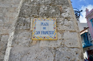 Plaza de San Francisco plaque