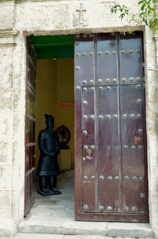 Doorway with Asian Statue