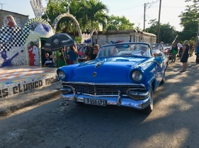 Classic Car Blue Front View