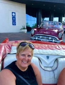 Angie in a Classic Car