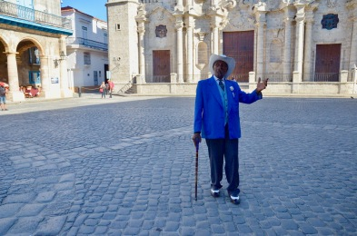 Cathedral Square: Gentalman in Blue