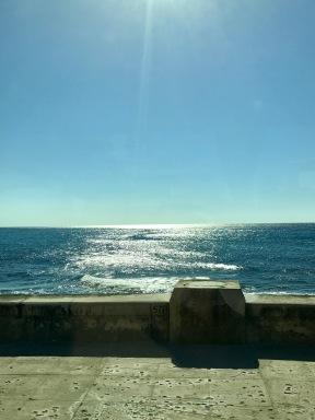Sun glistening over Malecon