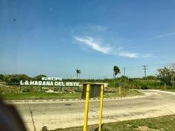 Municipio La Habana del Este sign